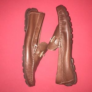 Steve Madden Ansell bit moc driving shoes, brown.
